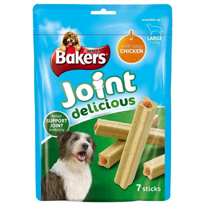 Bakers Joint Delicious Large Dog Treat Chicken 7 Sticks