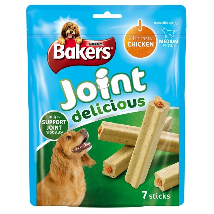 Bakers Joint Delicious Medium Dog Treat Chicken 7 Sticks