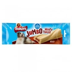 Jumbo Meaty Twists Large Dog Treat Beef 200g