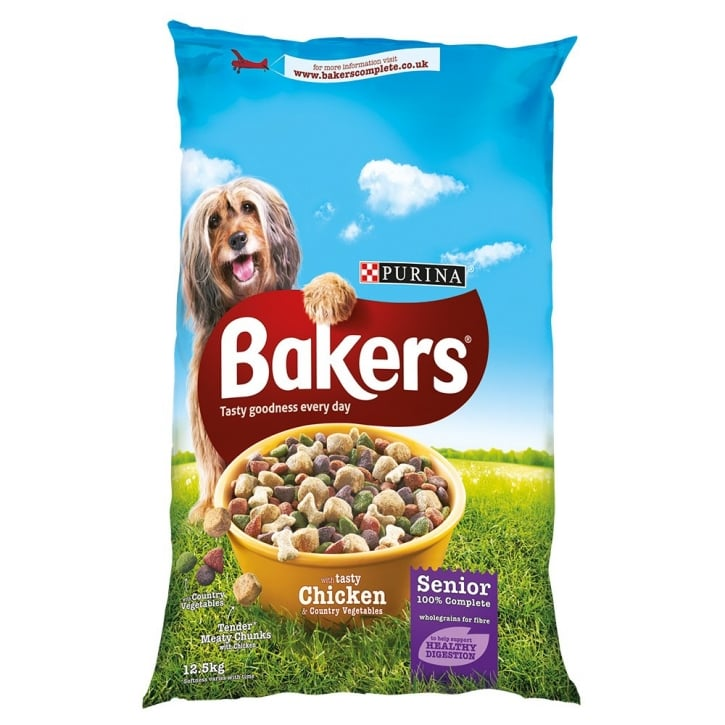 Bakers Senior 7 Years+ with Tasty Chicken & Country Vegetables 12.5kg