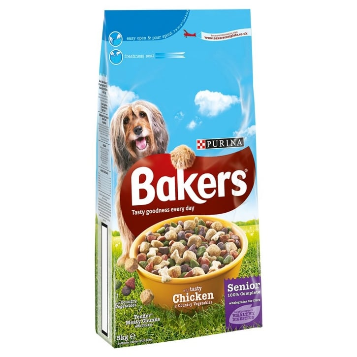 Bakers Senior 7+ years with Tasty Chicken & Country Vegetables 5kg