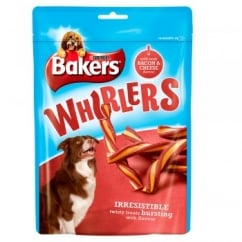 Bakers Whirlers Bacon & Cheese Dog Treat 175g
