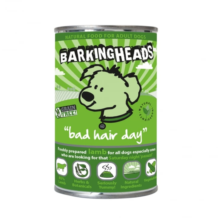 Barking Heads Bad Hair Day Grain Free Adult Wet Dog Food 6 x 400g