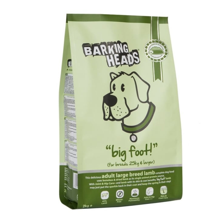 Barking Heads Big Foot Bad Hair Day Adult Dog Food Lamb 2kg