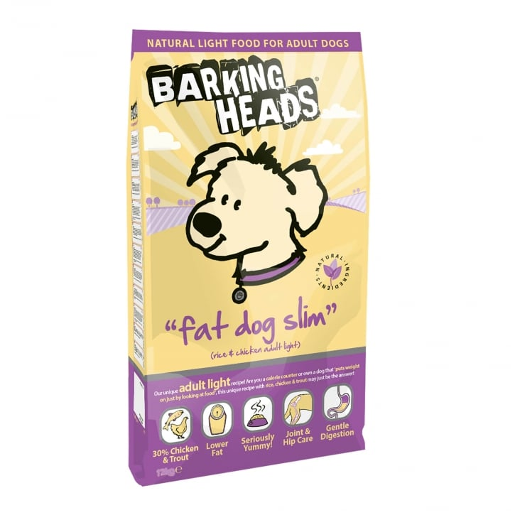 Barking Heads Fat Dog Slim Adult Light Dog Food 12kg