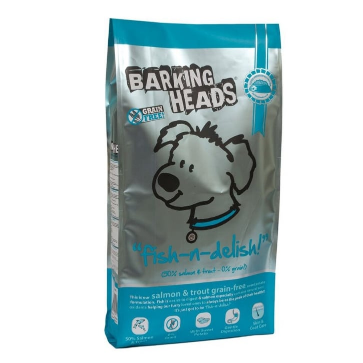 Barking Heads Fish N Delish Grain Free Dog Food Salmon & Trout 12kg
