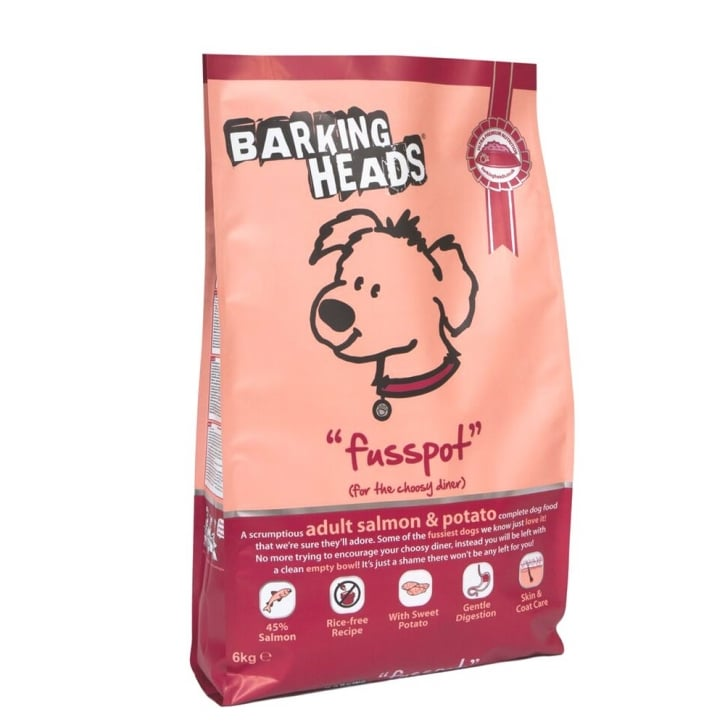 Barking Heads Fusspot Adult Dog Food Salmon & Potato 6kg