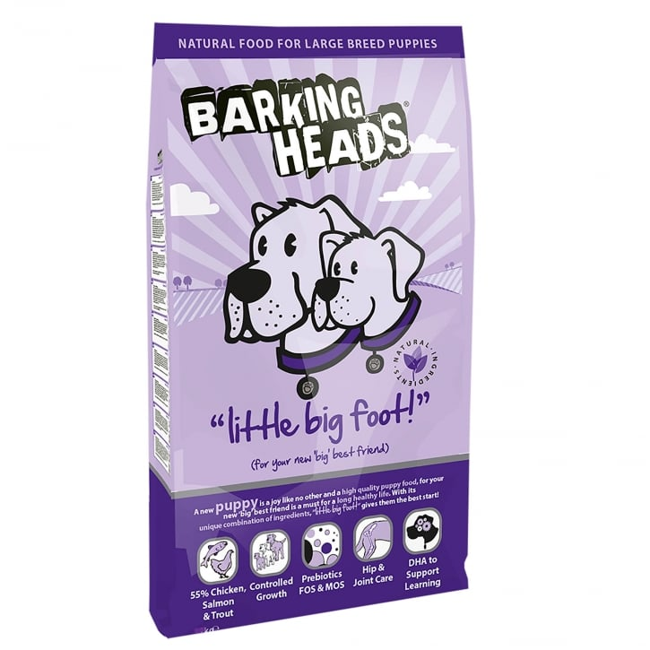 Barking Heads Little Big Foot Large Breed Puppy Dog Food 12kg
