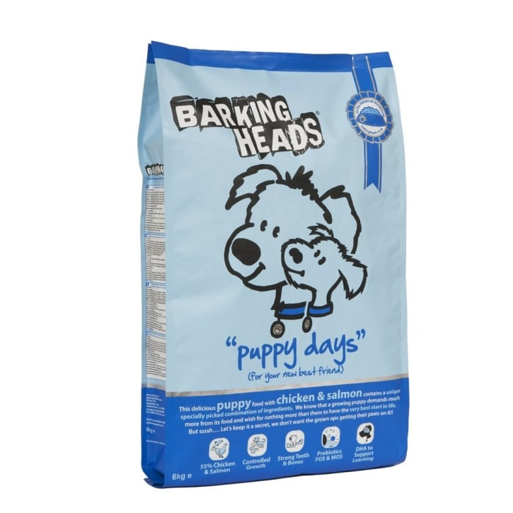 Barking Heads Puppy Days Dog Food Chicken & Salmon 6kg