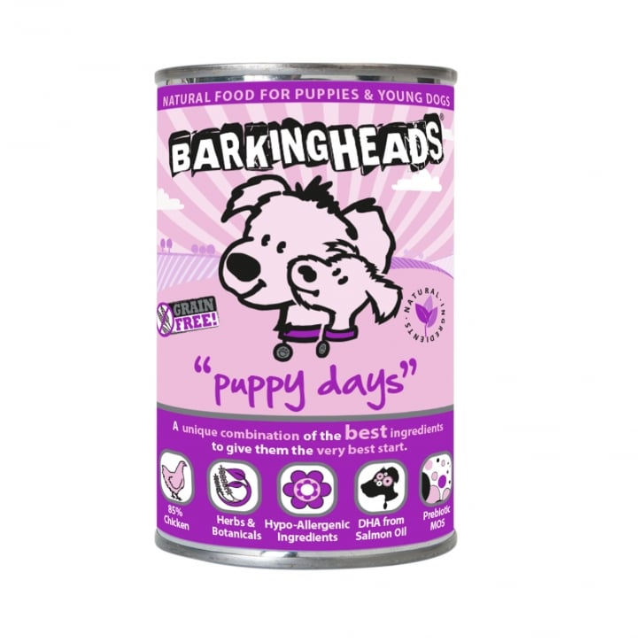 Barking Heads Puppy Days Grain Free Chicken Puppy Wet Dog Food 6 x 400g