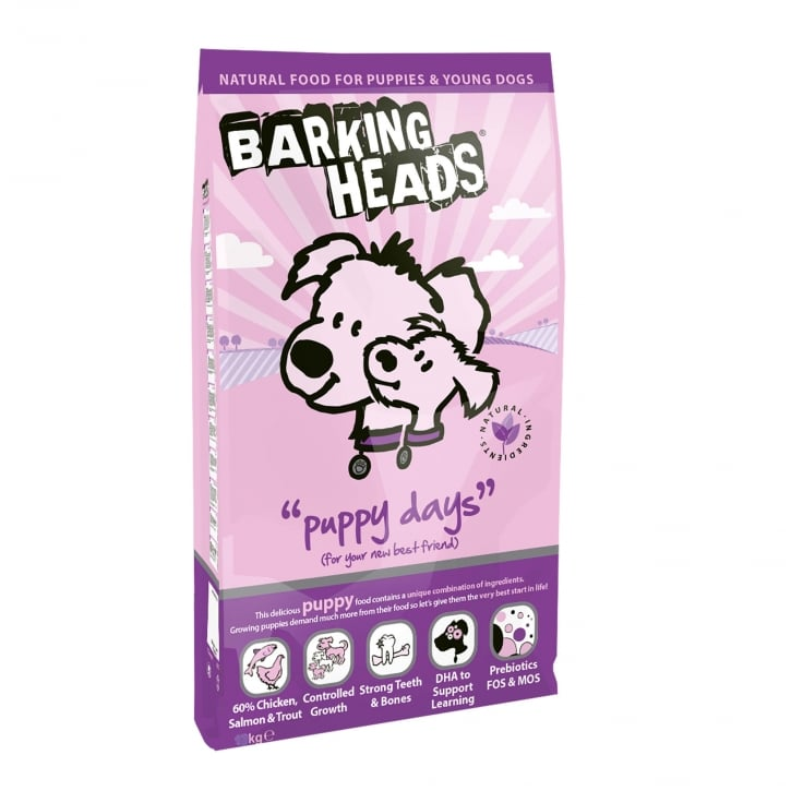 Barking Heads Puppy Days Puppy Dog Food 2kg