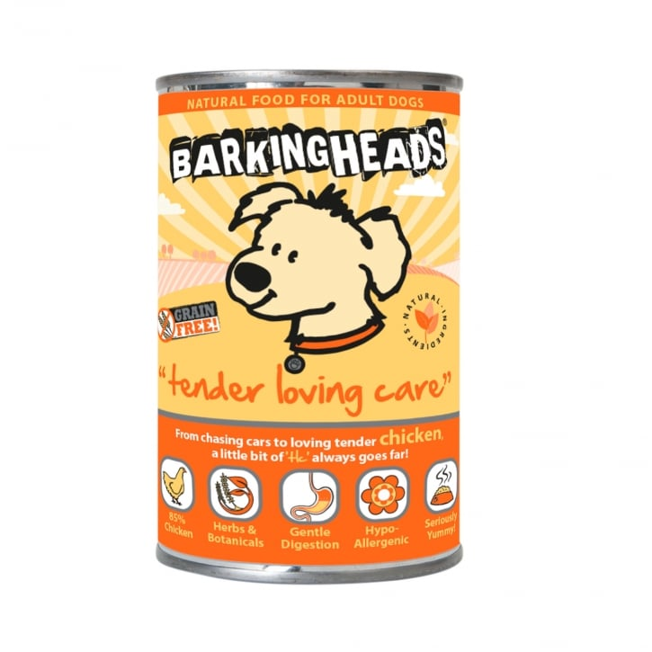 Barking Heads Tender Loving Care Grain Free Adult Wet Dog Food 6 x 400g