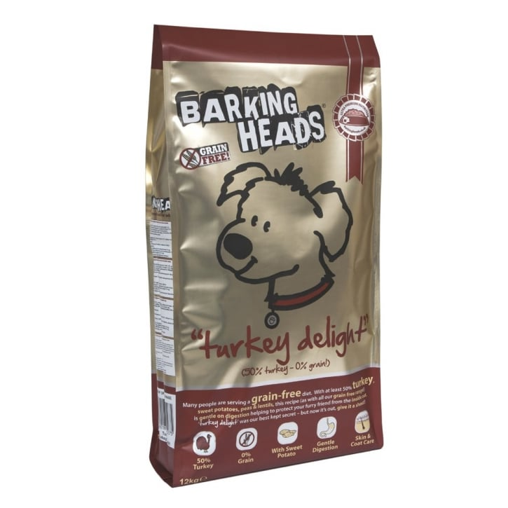 Barking Heads Turkey Delight Adult Dog Grain Free 12kg