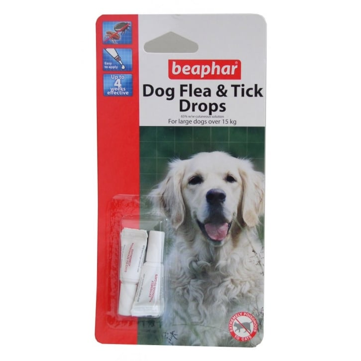 Beaphar Dog Flea Drops - 4 Week Protection Large Dogs