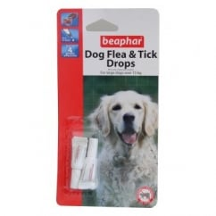 Dog Flea Drops - 4 Week Protection Large Dogs