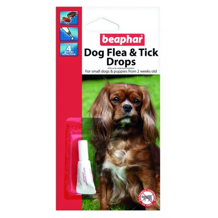 Beaphar Dog Flea Drops - 4 Week Protection Small Dogs