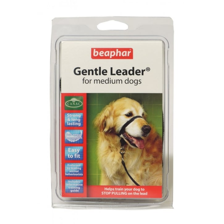 Beaphar Gentle Dog Leader - Medium - Red