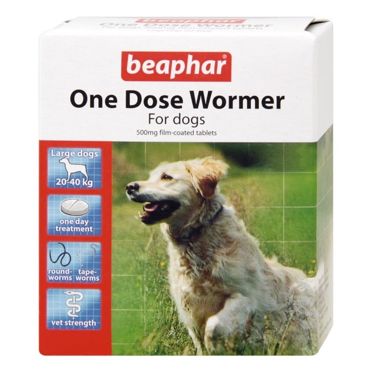 Beaphar One Dose Wormer For Dogs - 4 Tablet Pack