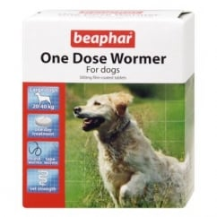 One Dose Wormer For Dogs - 4 Tablet Pack