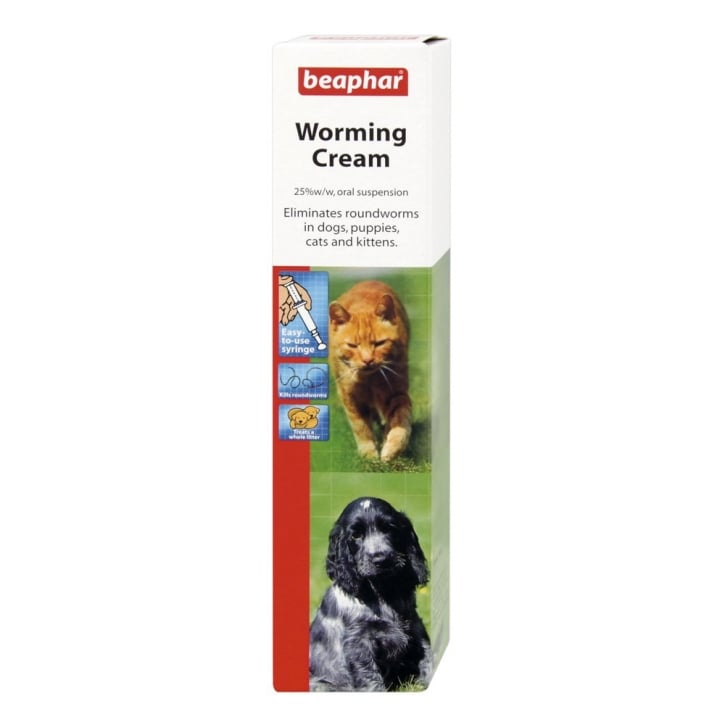 Beaphar Worming Cream For Dogspuppiescatskittens 18gm Feedem
