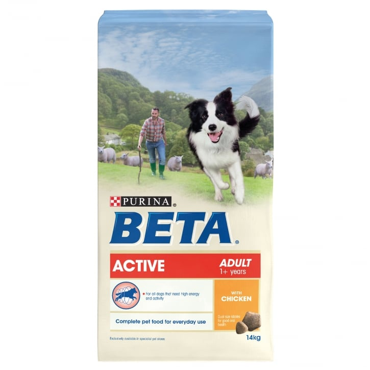 Beta Active Adult Dog Food With Chicken 14kg