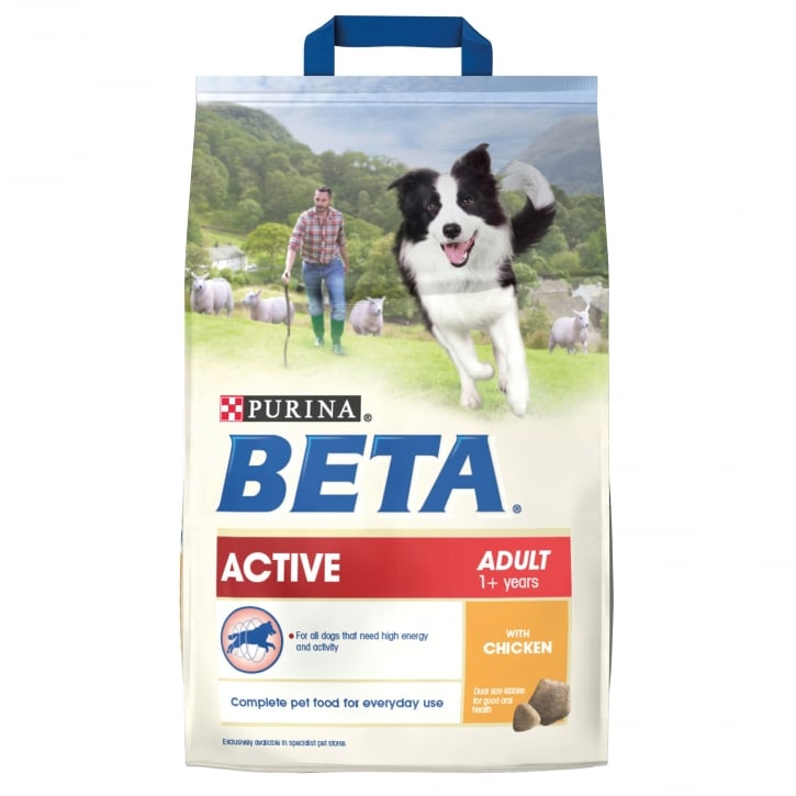 Beta Active Adult Dog Food With Chicken 2.5kg