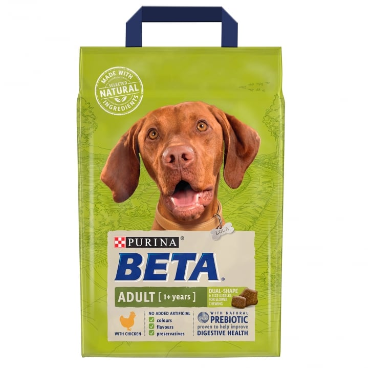 Beta Adult Dog Food with Chicken 1+ Years 2.5kg