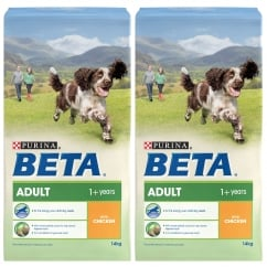 Beta Adult Dog Food with Chicken 2 x 14kg