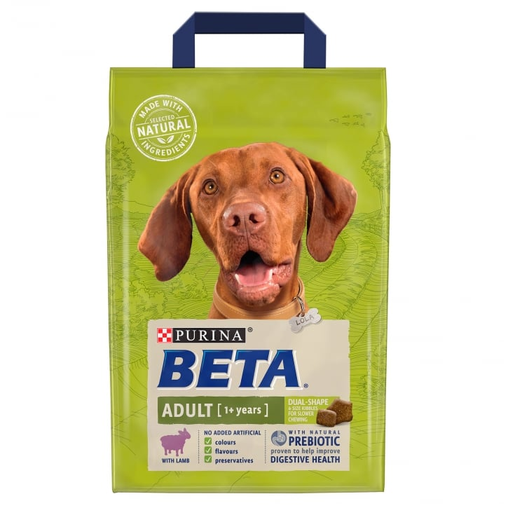 Beta Adult Dog Food with Lamb 1+ Years 2.5kg