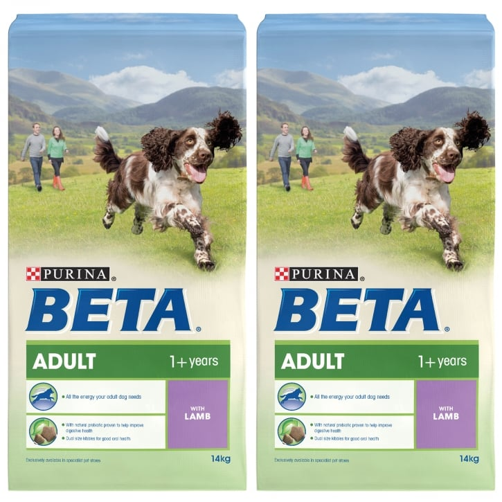 Beta Adult Dog Food with Lamb 2 x 14kg