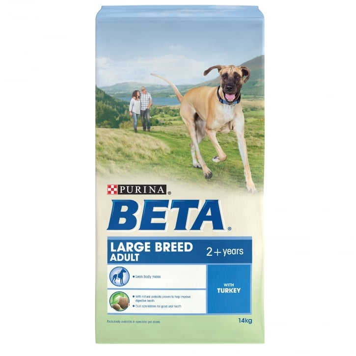 Beta Large Breed Adult Dog Food With Turkey 14kg