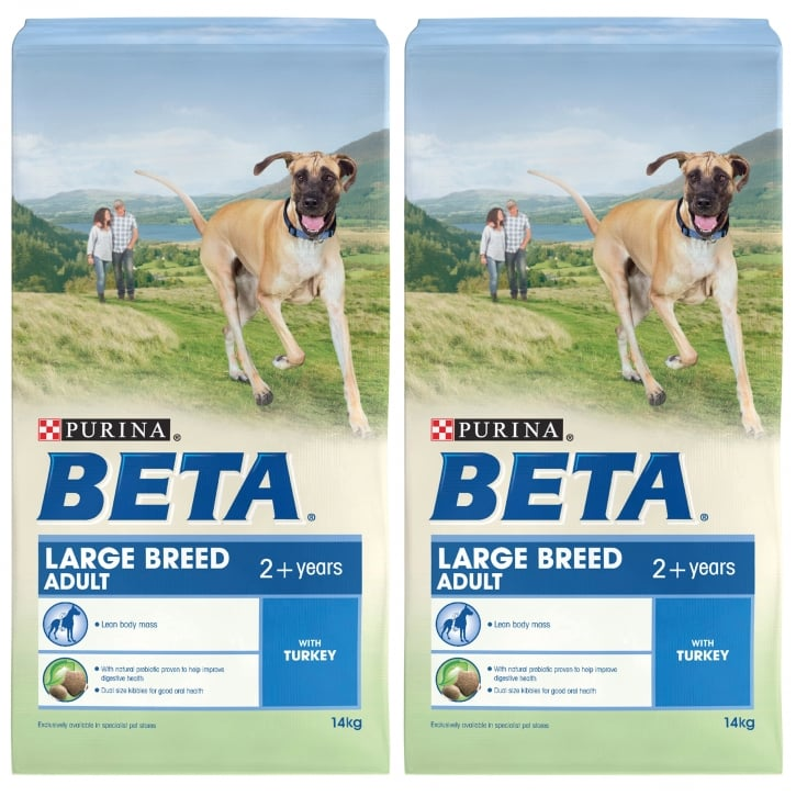 Beta Large Breed Adult Dog Food with Turkey 2 x 14kg