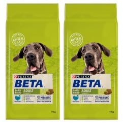 Large Breed Adult Dog Food with Turkey 2+ Years 2 x 14kg