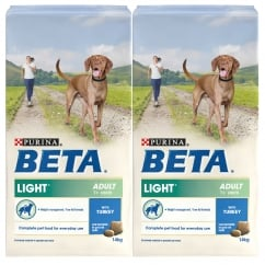 Beta Light Adult Dog Food with Turkey 2 x 14kg