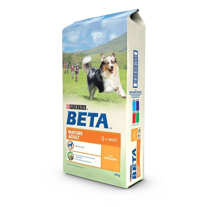 Beta Mature 5+ Dog Food With Chicken 14kg