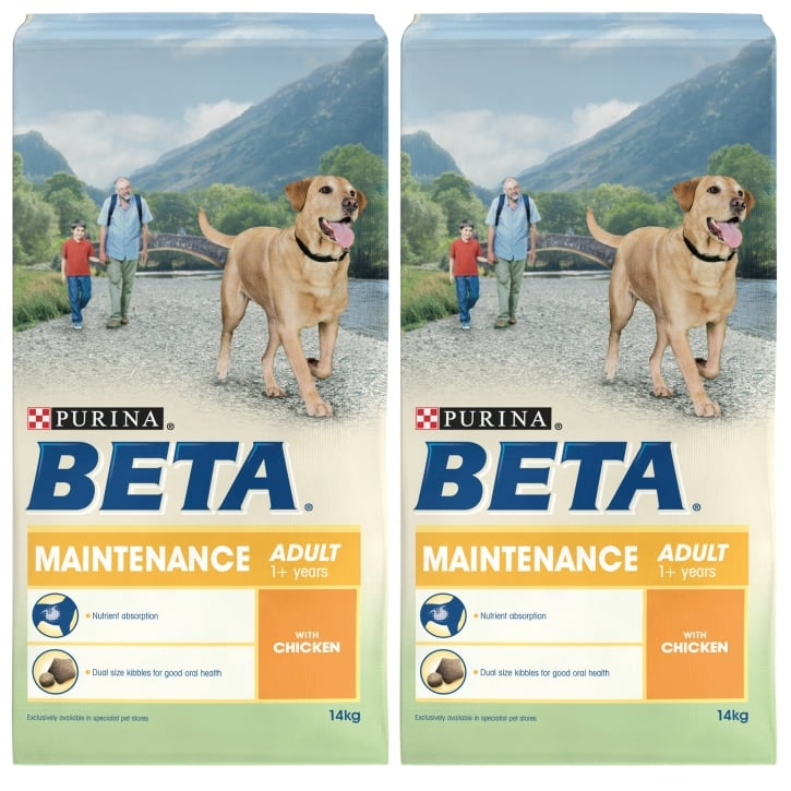 Beta Pet Maintenance Adult Dog Food With Chicken 2 x 14kg