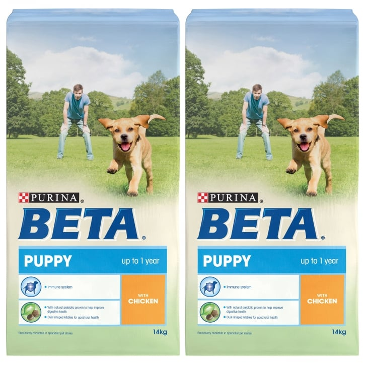 Beta Puppy Dog Food With Chicken 2 x 14kg