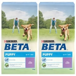 Beta Puppy Dog Food with Lamb 2 x 14kg