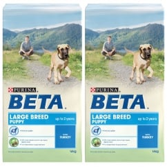 Beta Puppy Large Breed Dog Food with Turkey 2 x 14kg