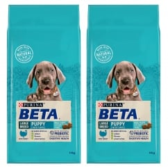 Puppy Large Breed Dog Food with Turkey Up To 2 Years 2 x 14kg