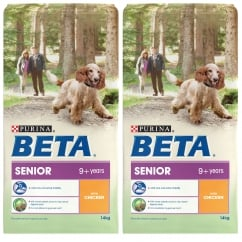Beta Senior 9+ Years Dog Food with Chicken 2 x 14kg