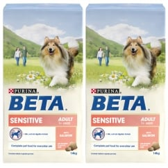 Beta Sensitive Adult Dog Food with Salmon 2 x 14kg