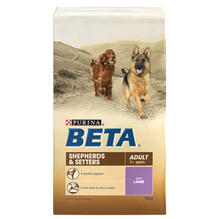 Beta Shepherds & Setters Adult Dog Food with Lamb 12kg