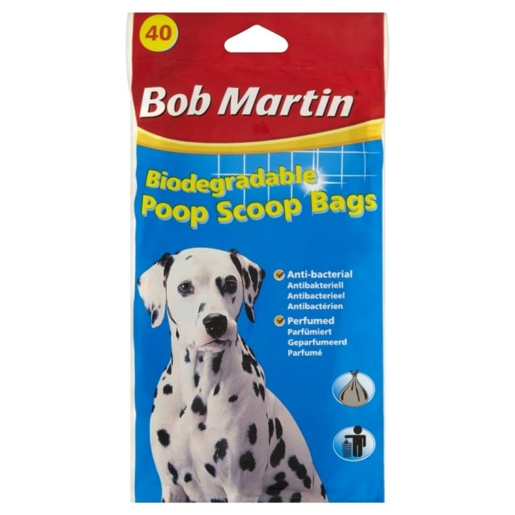 Bob Martin Biodegradable Poop Scoop bags 40 Pack