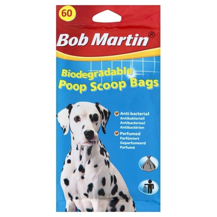 Bob Martin Biodegradable Poop Scoop Bags 60 pack