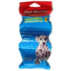 Bob Martin Biodegradable Poop Scoop Bags Dispenser Rolls 60 pack