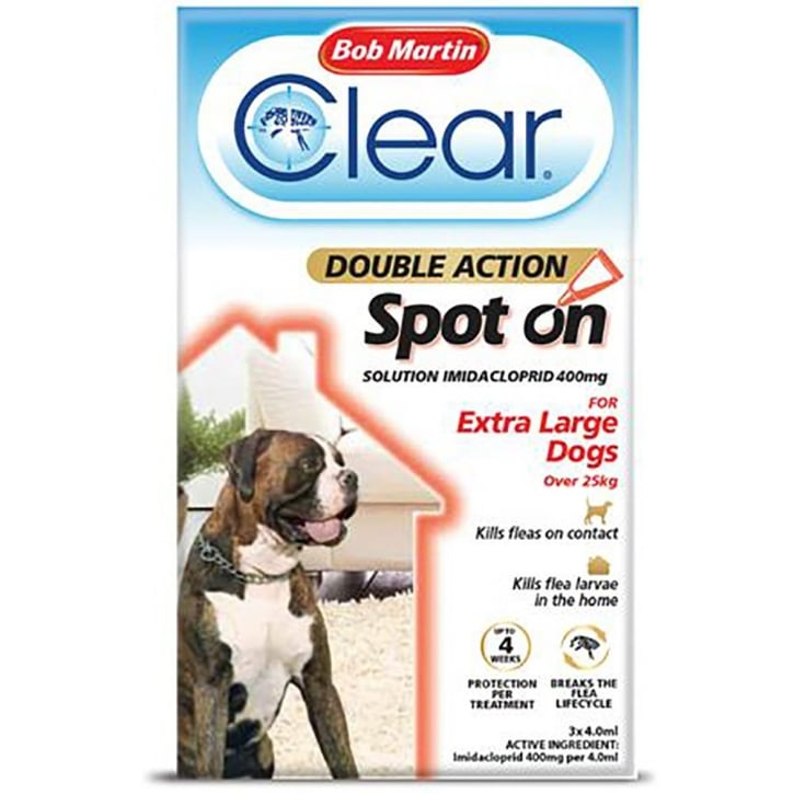 Bob Martin Clear Double Action Spot On for Extra Large Dogs