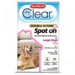 Clear Double Action Spot On for Large Dogs