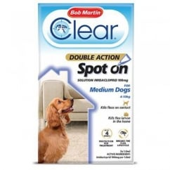 Clear Double Action Spot On for Small/Medium Dogs