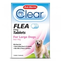 Bob Martin Clear Flea Tablets For Large Dogs 3 Pack